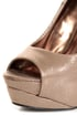 My Delicious Rainer Bronze Shimmer Peep Toe Platform Pumps