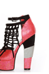 Michael Antonio Studio Townsend-Rep Red Metallic Cage Heels