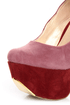 Promise Trustie Wine Red and Pink Color Block Platform Heels