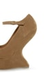 Privileged Dexter Tan Peep Toe Heelless Platforms
