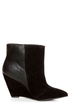 Qupid Maddox 07 Black Fringe Pointed Ankle Boots