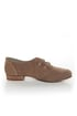 Restricted Brooke Taupe Suede Belted Oxford Flats