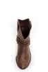 West Light Brown Harness Mid Calf Cowgirl Boots