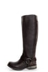 Steve Madden Judgemnt Black Leather Fleur-De-Lis Riding Boots
