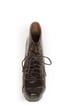 Shoe Republic LA Step Brown Lace-Up Platform Ankle Boots