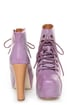 Shoe Republic LA Step Purple Lace-Up Platform Ankle Boots