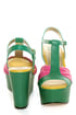 Seychelles You'll Never Know Emerald Color Block Wedge Sandals