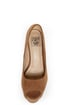 Speed Limit 98 Giant Taupe Peep Toe Platform Pumps