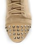 Diva Lounge Mason 20 Sand Suede Studded Cap-Toe Oxford Booties