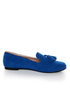 Yoki Frida Blue Tassel Smoking Slipper Flats