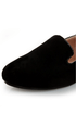 Yoki Gator 4 Black Suede Smoking Slipper Flats