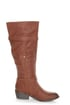 Yoki Tammy 2 Rust Brown Belted Knee High Riding Boots