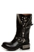 Zigi Girl Tangle Black Leather Heavy Metal Motorcycle Boots