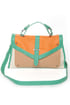 Carrot Cake Mint Color Block Purse