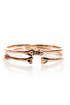 Wildfox Bone and Only Rose Gold Bangle Set