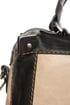 Melie Bianco Helena Black and Beige Handbag