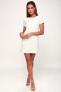 Shift And Shout Ivory Dress