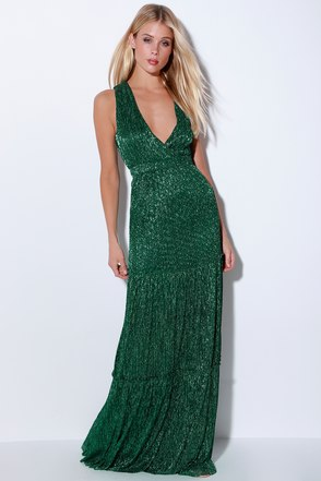 falling star teal green sleeveless maxi dress
