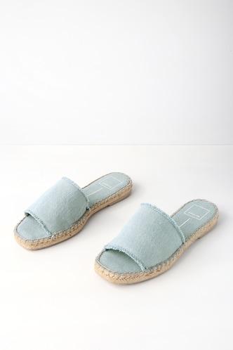 Lulus Benicia Light Espadrille Slide Sandal Heels - Lulus XBgp9U