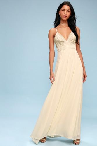 Lace wedding dresses gowns white bridal dresseslulus savona cream embroidered maxi dress 1 junglespirit Gallery
