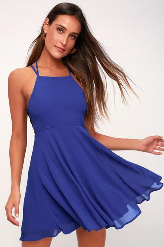 Dusty blue dress lulus