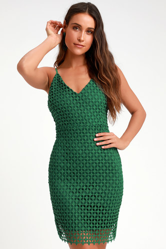 3d3a1190596 Kindhearted Green Lace Sleeveless Mini Dress 3 ...