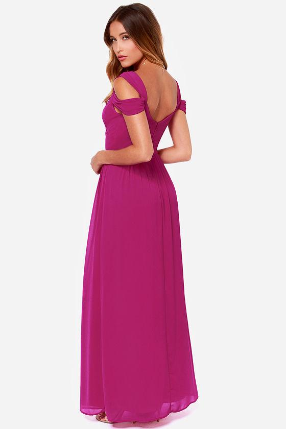Elegant Magenta Dress Maxi Dress Prom Dress Bridesmaid Dress
