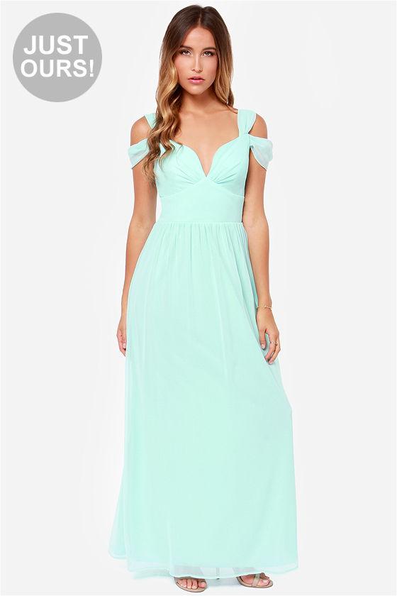 Elegant Light Blue Dress - Maxi Dress - Prom Dress - Bridesmaid ...
