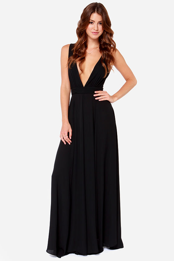 Beautiful Black Dress Maxi Dress Black Gown 10800