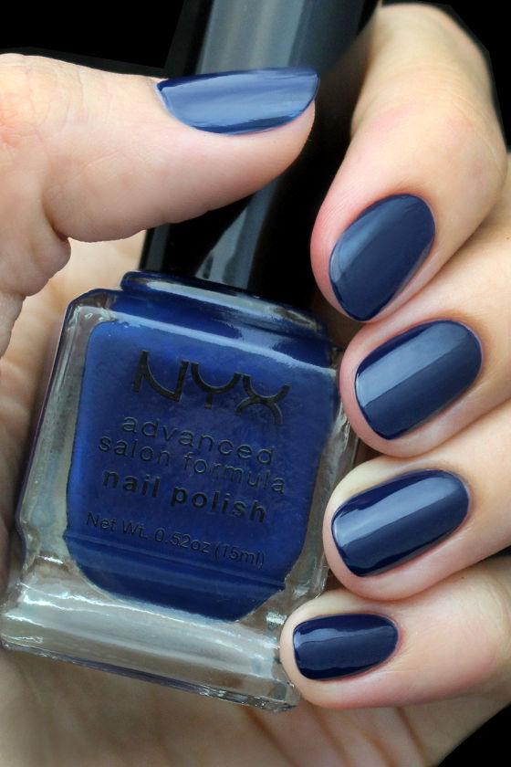 Navy Blue Nail Polish - Dark Blue Nail Polish - Nail Lacquer - $4.00