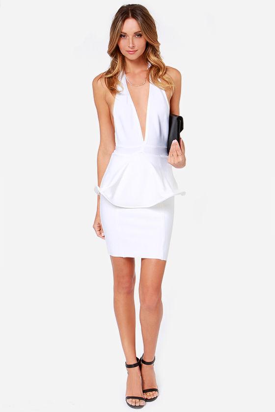 Bariano Bianca Dress - White Dress - Cocktail Dress - Bodycon Dress ...