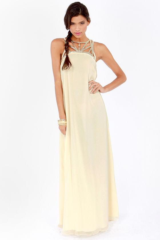Lumier Dress - Cream Dress - Maxi Dress - Prom Dress - Bridesmaid ...