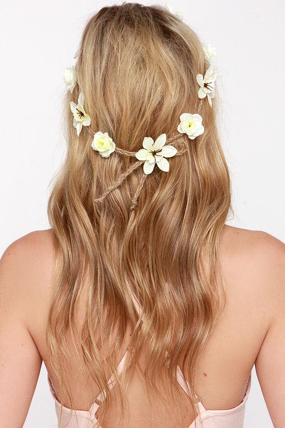 Lovely pale yellow headband flower crown flower headband 1800 wild flower fields pale yellow flower crown mightylinksfo