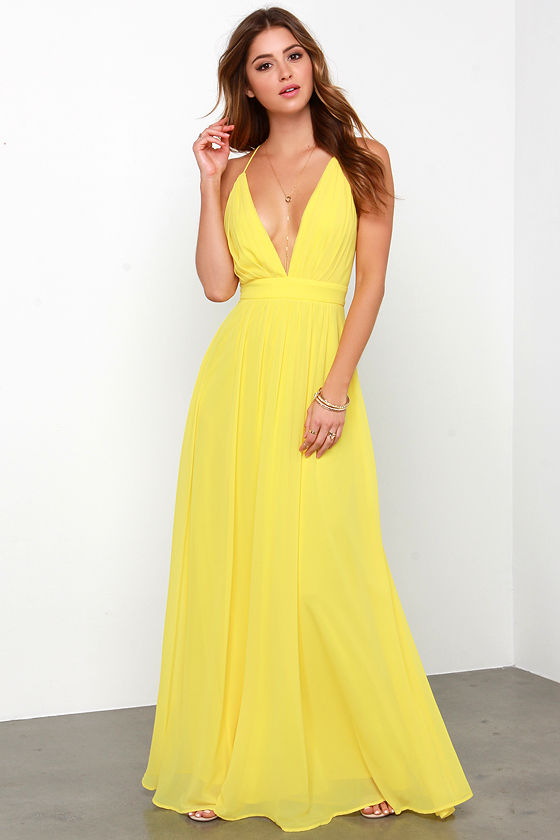 Lovely Yellow Dress - Maxi Dress - Yellow Gown - $148.00