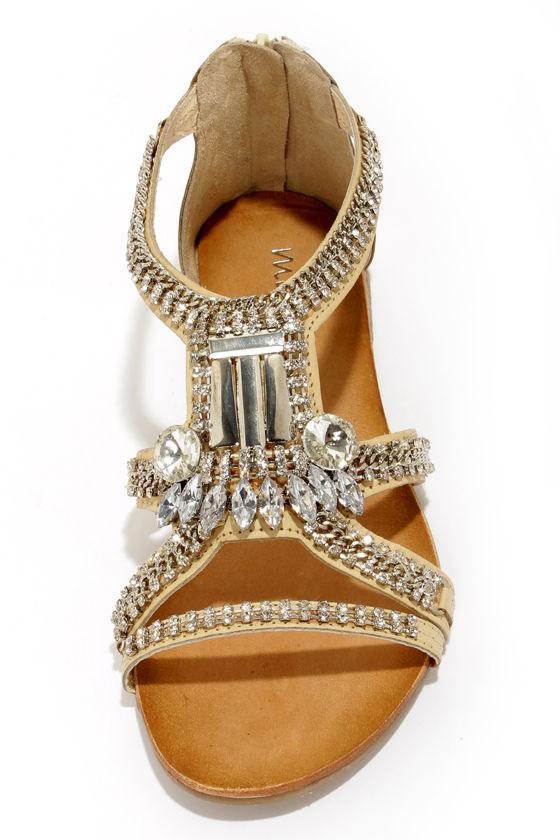 Gorgeous Dress Sandals Jeweled Sandals Leather Sandals