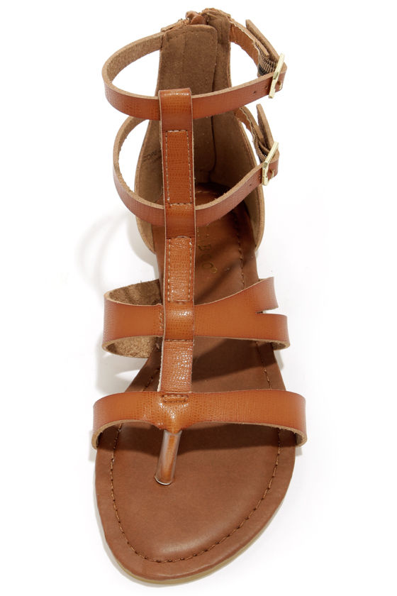 Cute Gladiator Sandals Thong Sandals Brown Sandals