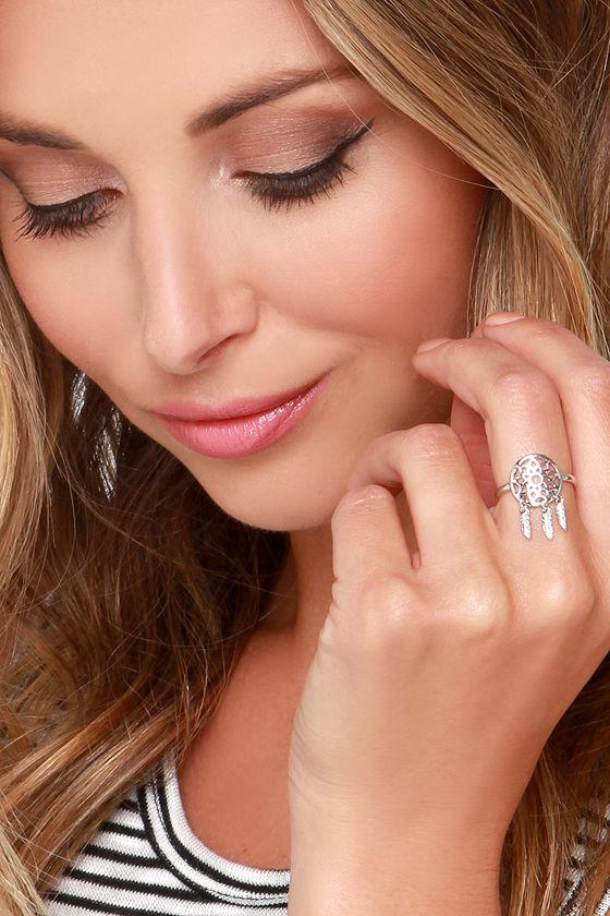 Cute Silver Ring Dream Catcher Ring Dreamcatcher Ring 4040 Gorgeous Dream Catcher Nose Ring