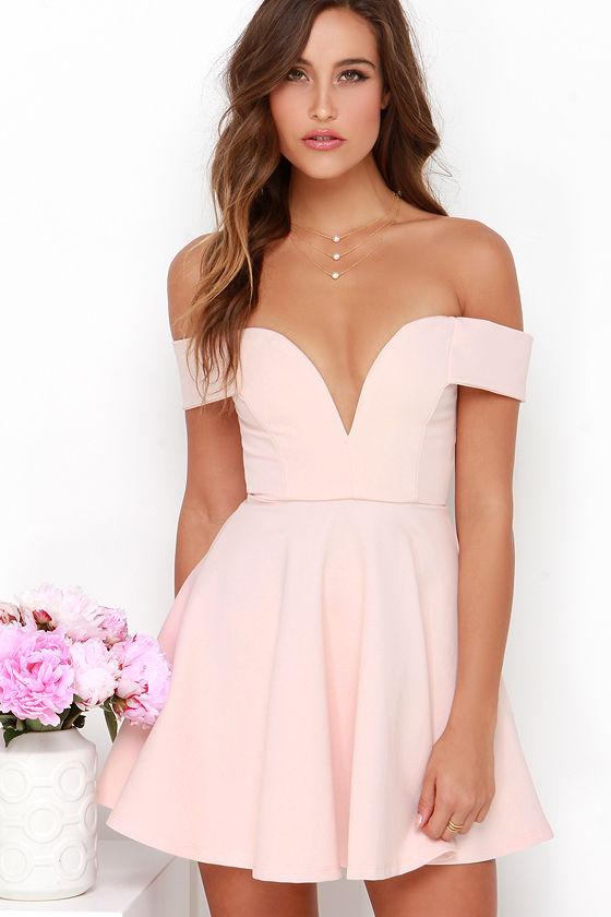 Light pink dress casual