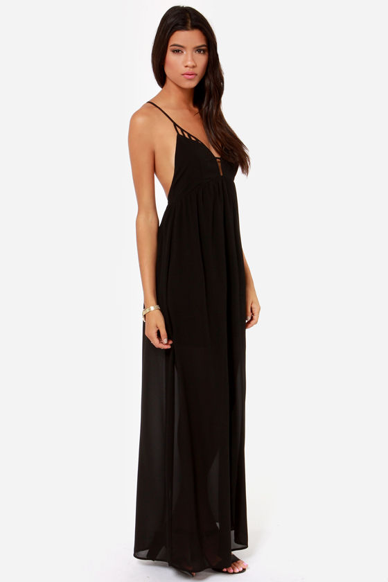 Oh So Coy Backless Black Maxi Dress - $45 : Fashion at Lulus.com