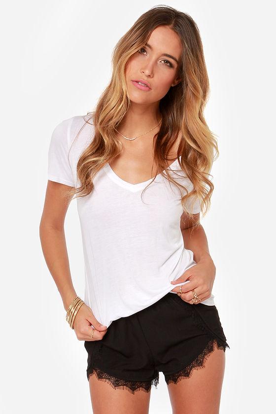 Cute Black Shorts Lace Shorts 2900