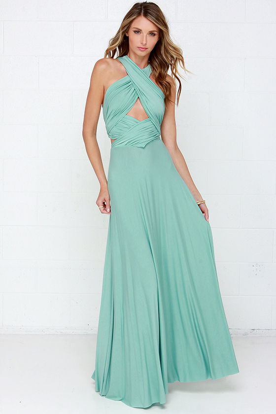 Awesome Mint Green Dress Maxi Dress Wrap Dress 7800