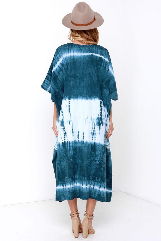 Tie-Dye Kimono Top - Blue Kimono - $58.00