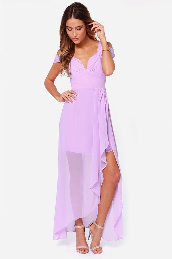 Pretty Lavender Dress Maxi Dress Formal Dress 6500