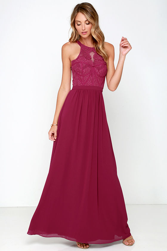 Berry Pink Gown - Maxi Dress - Bridesmaid Dress - Prom Dress - $219.00