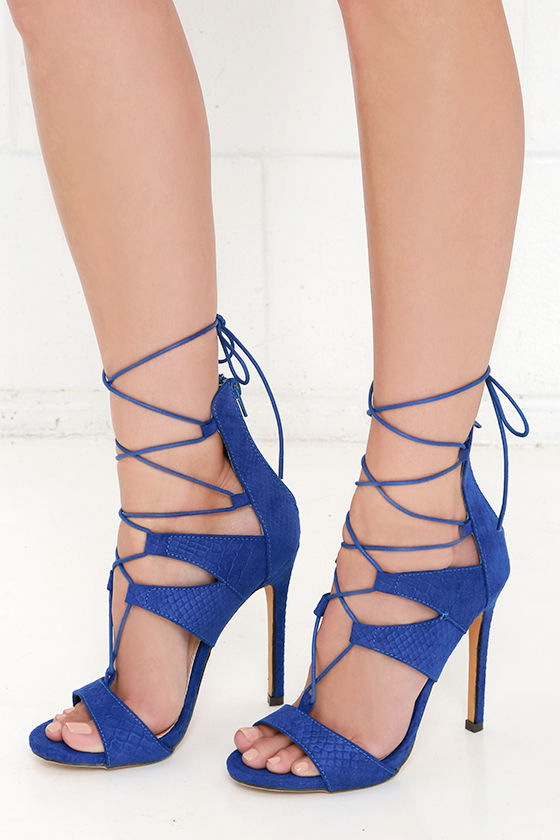 Sexy blue shoes
