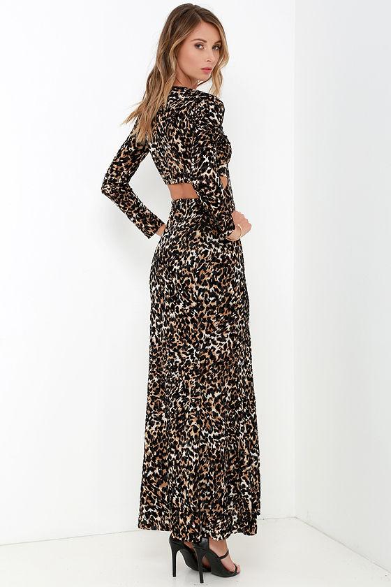 Somedays Lovin\' Wagon - Leopard Print Dress - Long Sleeve Dress ...