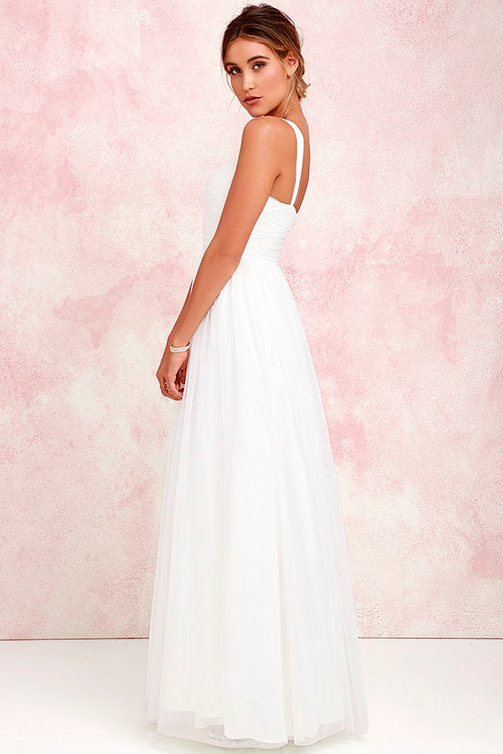 Pretty Ivory Gown - Tulle Gown - Bridal Gown - Maxi Dress - $82.00