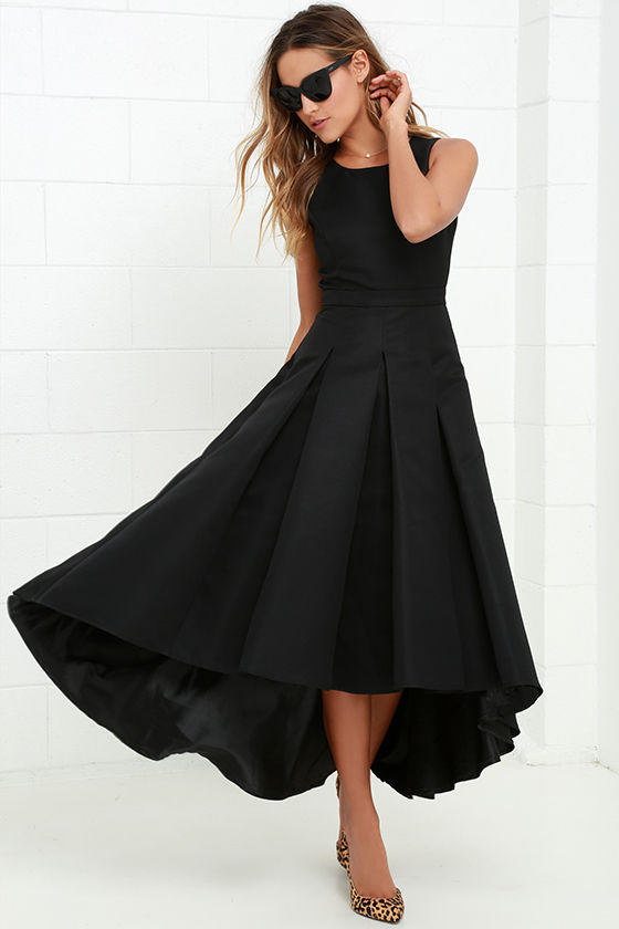 Lovely Black Dress High Low Dress Formal Dress 8200