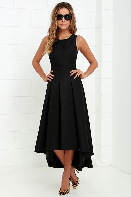 Lovely Black Dress High Low Dress Formal Dress 8200