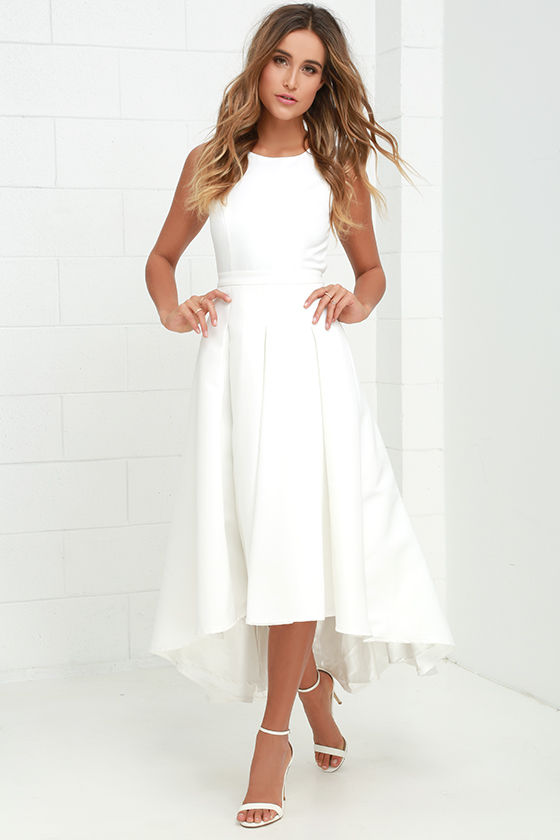 Lovely Ivory Dress High Low Dress Formal Dress 8200